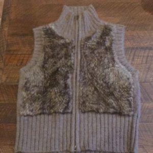Cool Cabi Faux Fur Sweater Vest